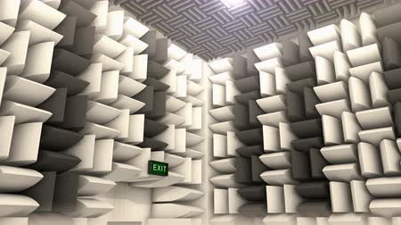 klidný : Computer generated, Sound proof room, anechoic chamber.
