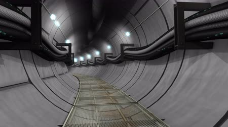 boru hattı : Underground cables, gas, utility tunnel Stok Video