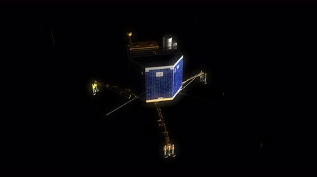 komet : Computer generated, comet lander, spacecraft, research laboratory