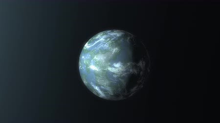kepler : Artist concept rendering Earth like planet discovery. Stock Footage