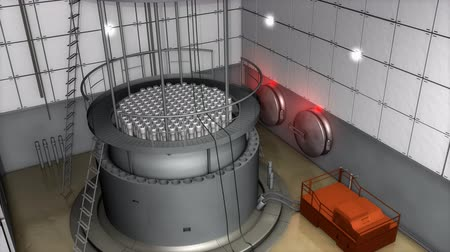 radioaktivní : Nuclear reactor interior view, modern high end safety measures.