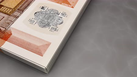 összeg : Paper money flips animation Euro