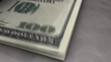 összeg : Paper money flips animation Dollar Stock mozgókép