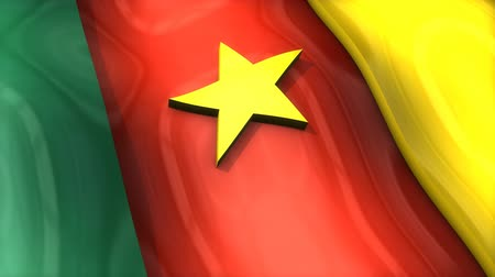 monarchie : 3D flag, Cameroon, waving, ripple, Africa, Middle East. Dostupné videozáznamy