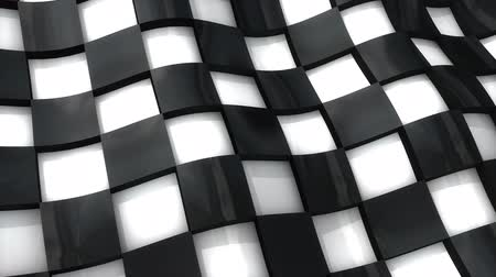 pista de corrida : Checkered flag with 3D deep effect.