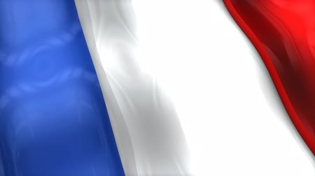 monarchie : 3D flag, France, waving, ripple, Europe.