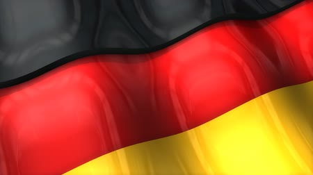 monarchy : 3D flag, Germany, waving, ripple, Europe. Stock Footage