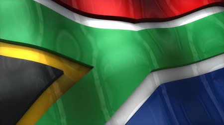 demokratický : 3D flag, South Africa, waving, ripple, Africa, Middle East.