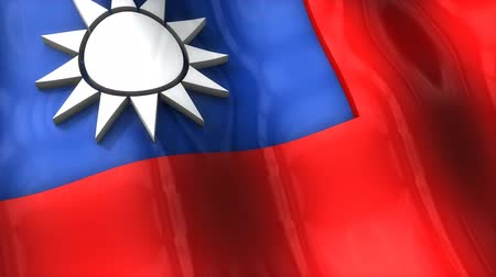 monarchy : 3D flag of Taiwan waving
