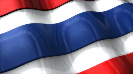 monarchy : 3D flag, Thailand, waving, ripple, Asia. Stock Footage