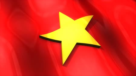 monarchie : 3D flag, Vietnam, waving, ripple, Asia.