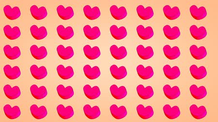 tons : Simple tile background, heart shape.