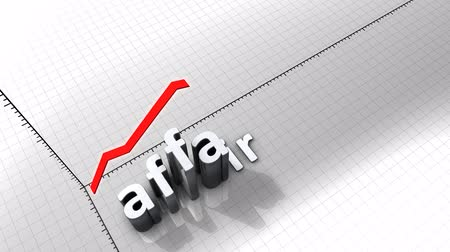 excesso : Growing chart graphic animation, Affair.