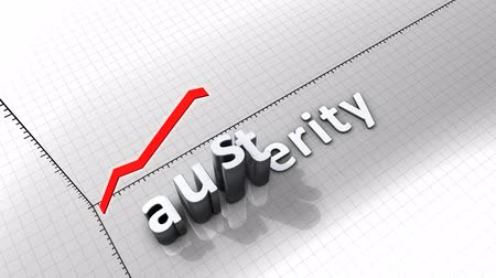 expenditure : Growing chart graphic animation, Austerity. Stock Footage