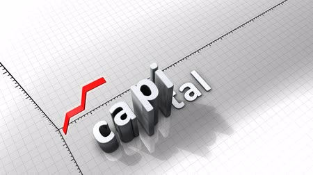 excesso : Growing chart graphic animation, Capital.