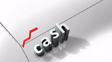 excesso : Growing chart graphic animation, Cash. Stock Footage