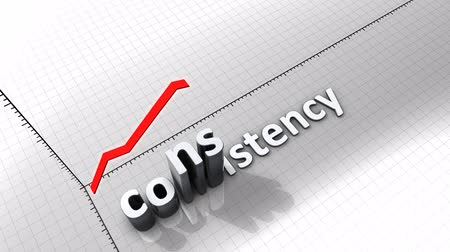 consistency : Growing chart graphic animation, Consistency.