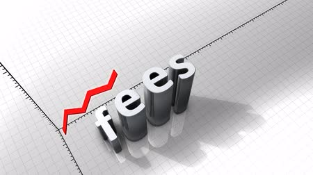 excesso : Growing chart graphic animation, Fees.