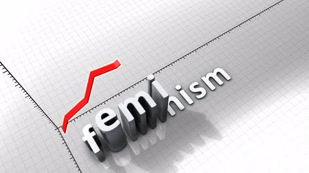 excesso : Growing chart graphic animation, Feminism.