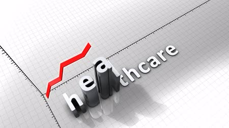 excesso de trabalho : Growing chart graphic animation, Healthcare.