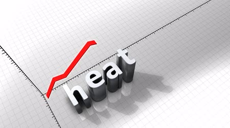 excesso : Growing chart graphic animation, Heat. Stock Footage