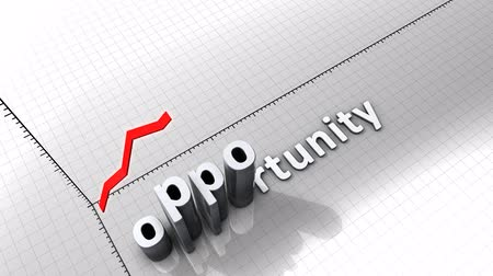 excesso de trabalho : Growing chart graphic animation, Opportunity. Stock Footage
