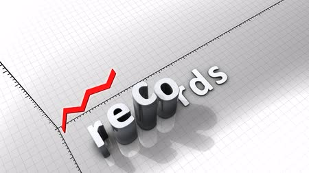 excesso : Growing chart graphic animation, Records.