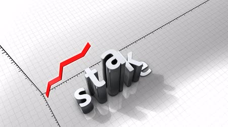 at the stake : Growing chart graphic animation, Stake. Stock Footage