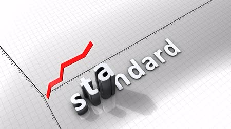 standart : Growing chart graphic animation, Standard.