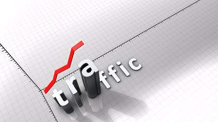city limits : Growing chart graphic animation, Traffic. Stock Footage