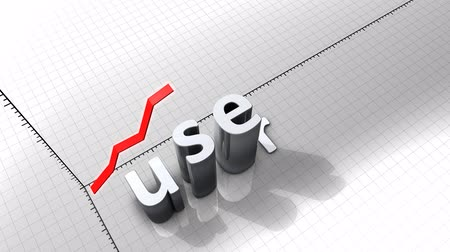increase : Growing chart graphic animation, User. Stock Footage