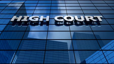 supremo : High court building blue sky timelapse.