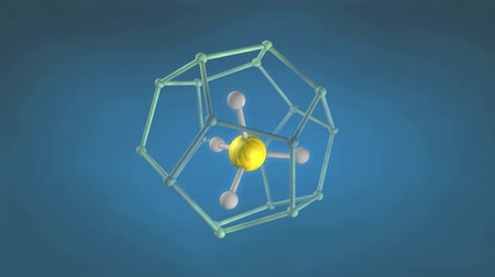atomic model : Methane hydrate molecule structure.