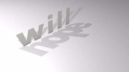 acreditar : Will above hope. motivational text animation.