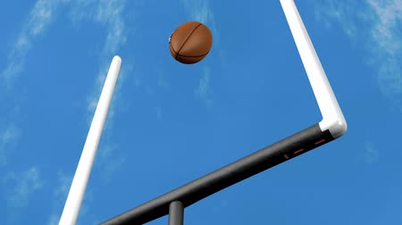 american football player : American football, ball, sport, goal, rugby. Stock Footage