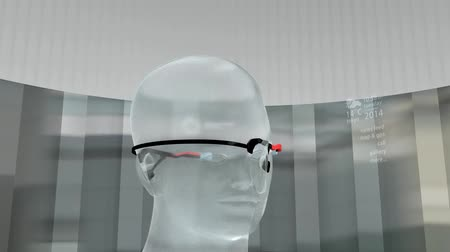 boletim informativo : Augmented reality device, technology, instant, informative, internet of thing, display. Stock Footage