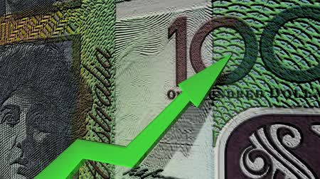inflação : Australian dollar currency value up animation.