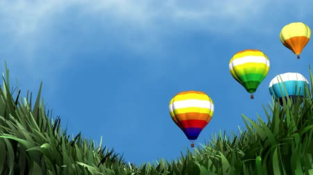 breezy : Beautiful breezy day and hot air balloon. Stock Footage