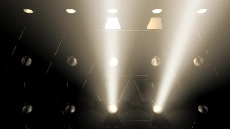 floodlight : Concert lights flood animation, bright, blue, white, stage. Stock Footage