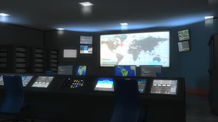 espião : Command center(enhanced version), control, military, monitor, security, space, global. Stock Footage