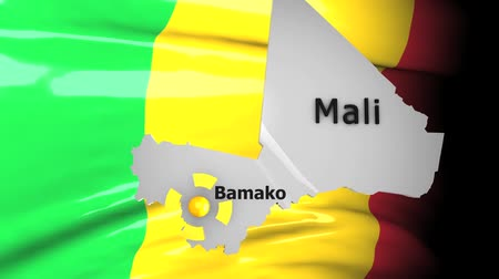 political intervention : Crisis location map series, Mali. Stock Footage