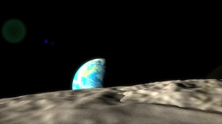 kilometer : Concept animation, distance of earth and moon.