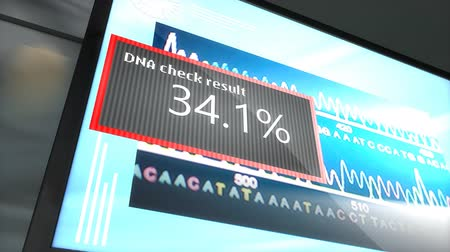 сочетание : Artist rendering  DNA matching technology.