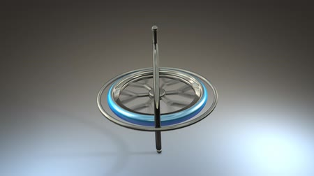 istikrar : Gyroscope with alpha matte, basic, science, physics.