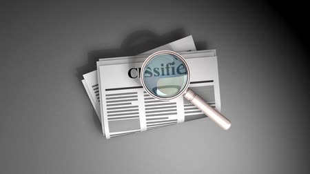 işsiz : Job classified searching, listing, employment, worker. Stok Video