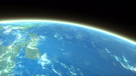 entry : Artist rendering meteor entering earth atmosphere Stock Footage