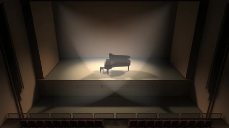 zongora : Artist concept piano stage and audience hall.