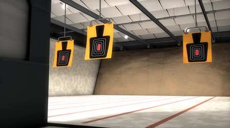 точность : Indoor shooting range, sport, active, aim. Стоковые видеозаписи