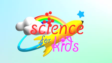 teoria : Animazione del titolo di Science for Kids. Filmati Stock
