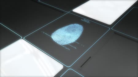 fingerabdruck : Sicherheits-ID-Scan-Technologie, digital, Sicherheit, Fingerabdruck.